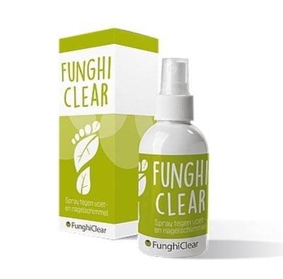 FunghiClear anti-schimmelspray tegen voetschimmel, nagelschimmel, kalknagels Schimmelnagelspecialist
